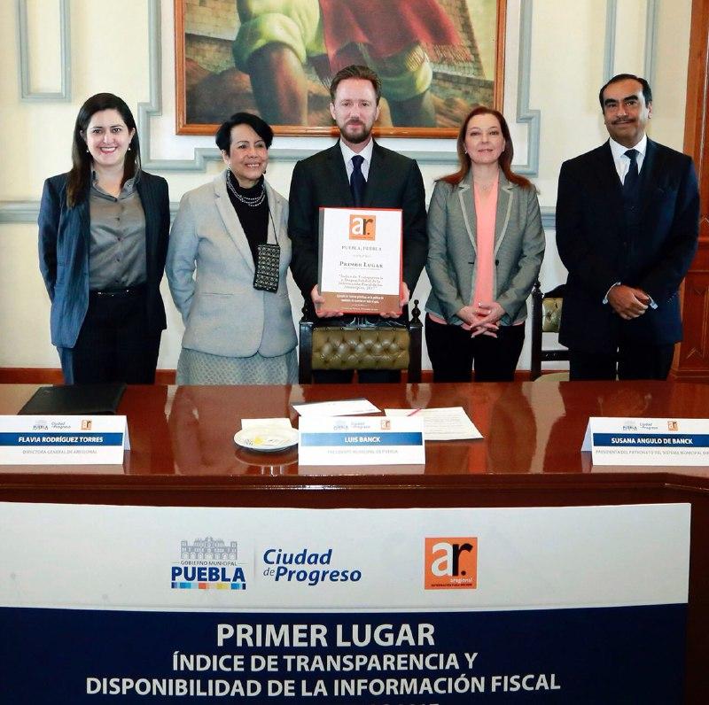 Por cuarto año consecutivo, Puebla capital es líder en transparencia
