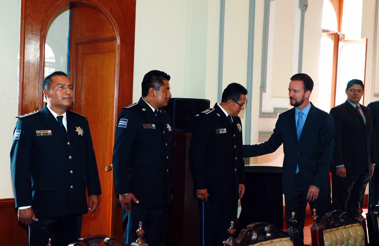 Realizan evaluación semanal de seguridad en Puebla capital