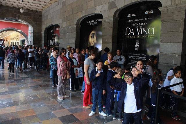 Da Vinci, el rostro de un genio tuvo más de 40 mil visitantes