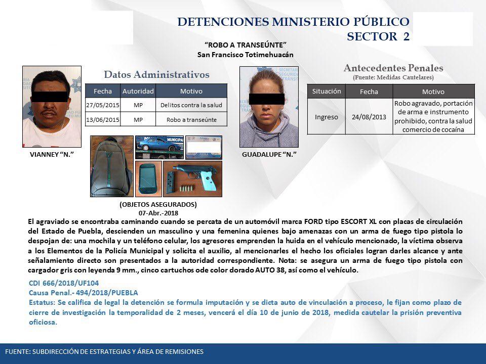Robaban casas y negocios en Puebla capital; ya están presos