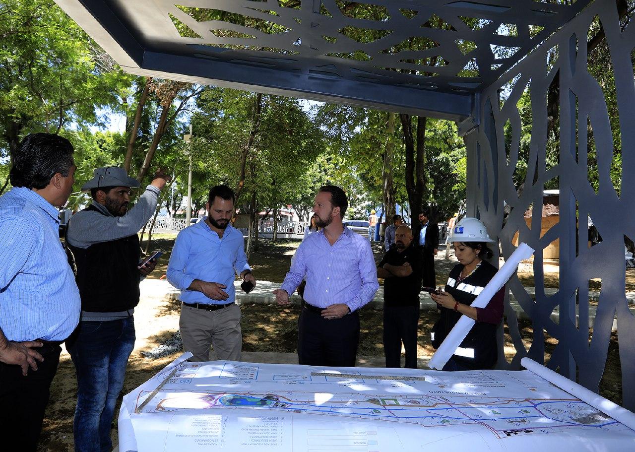 Avance del 90% en obras de rehabilitación del Parque Juárez
