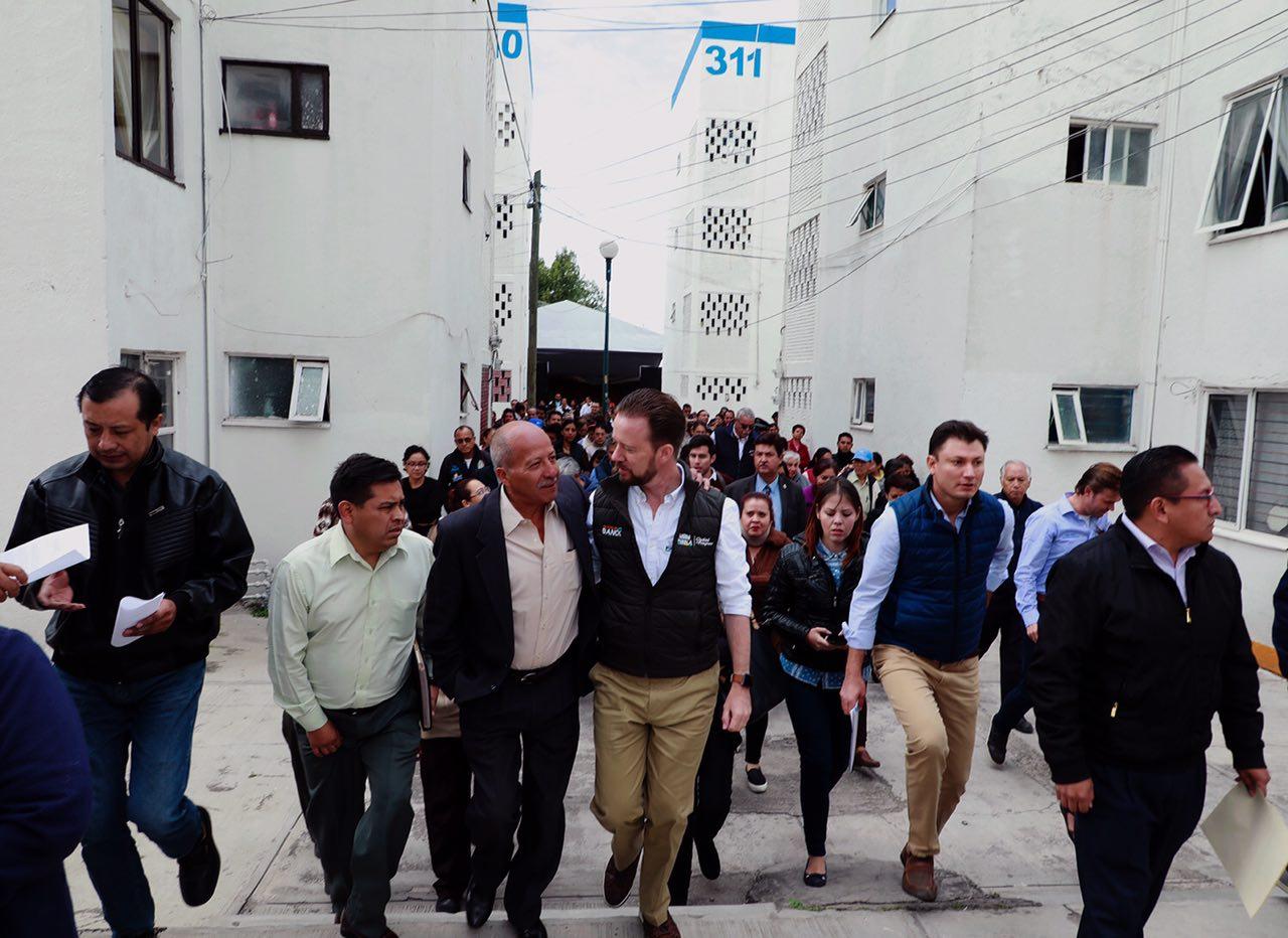 Gobierno municipal de Puebla mejora unidades habitacionales