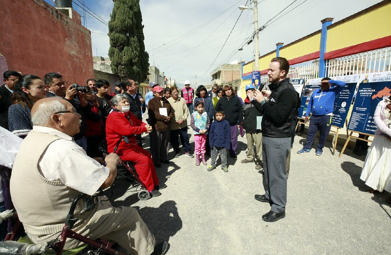 Arranca Banck pavimentación de vialidades en San Baltazar Campeche