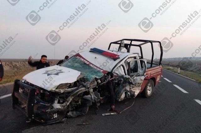 Policía estatal muere en choque en la Cuacnopalan-Oaxaca