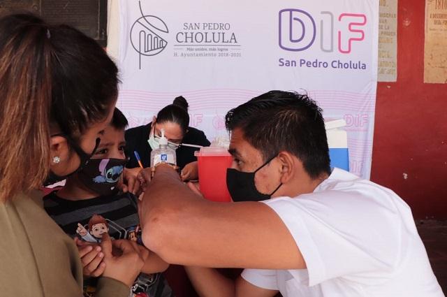 Arrancó en San Pedro Cholula Jornada de Vacunación