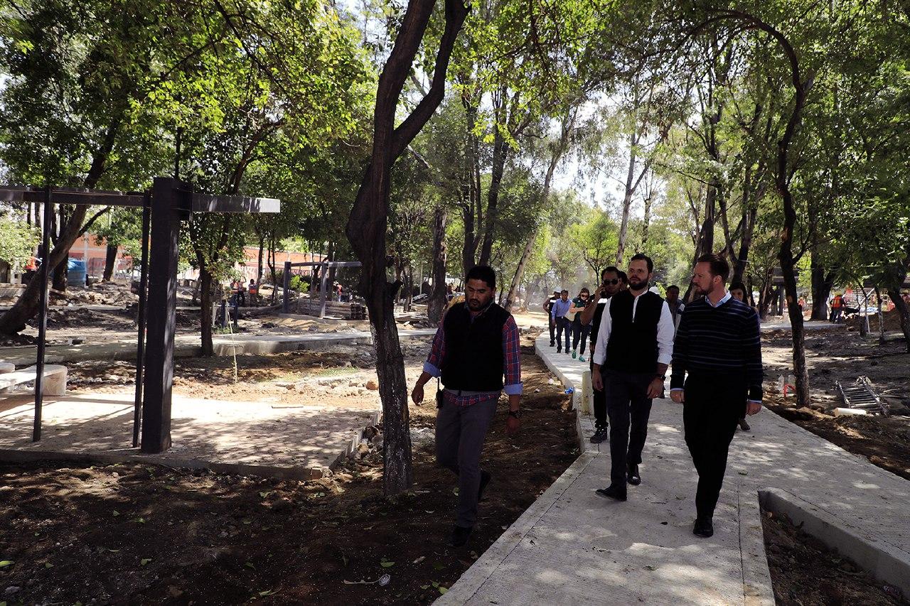 Modernizan Parque Juárez  para esparcimiento de niños y jóvenes