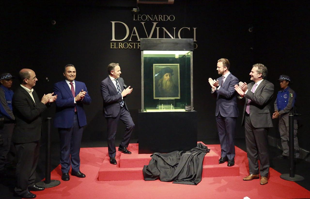Luis Banck recibe a Leonardo Da Vinci en Puebla