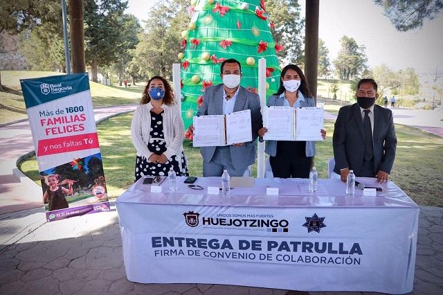 Angélica Alvarado y vecinos colaboran en seguridad para Real Segovia