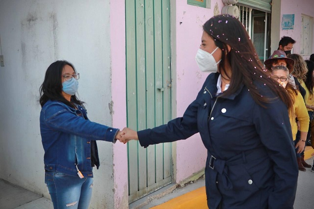 Inaugura Angélica Alvarado vialidad en San Luis Coyotzingo