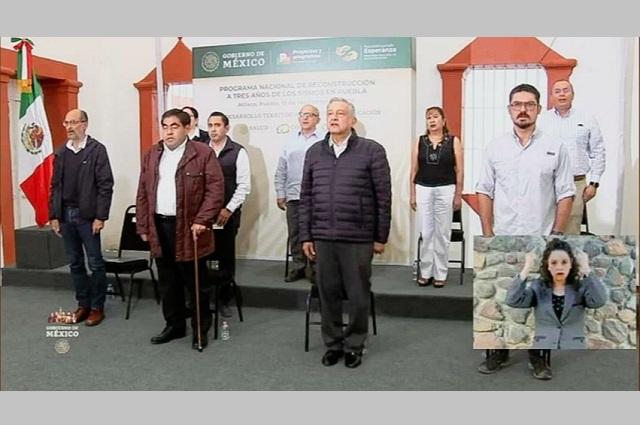 Recibe Guillermo Velázquez a AMLO para revisar Plan Nacional de Reconstrucción