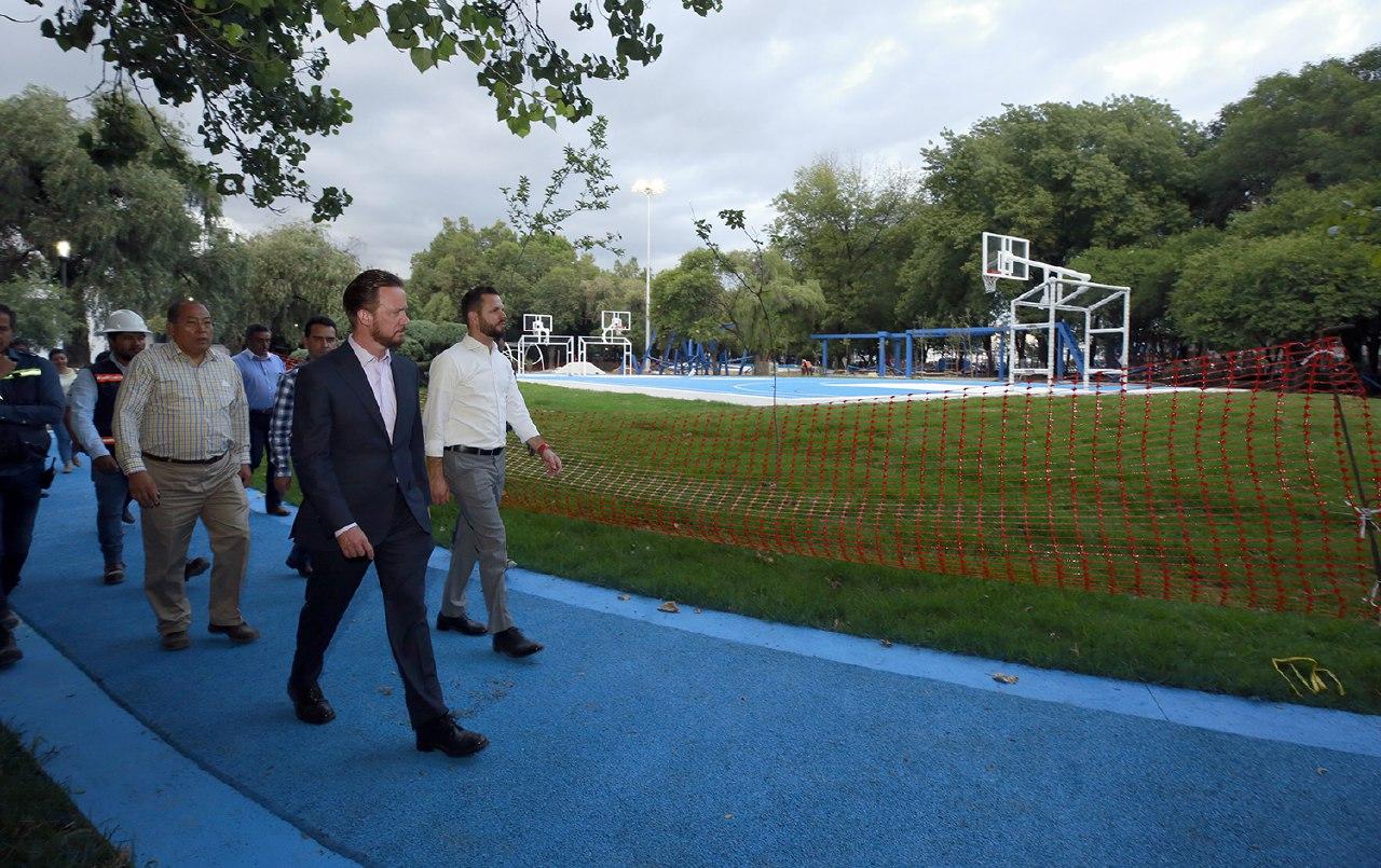 Por concluir, la rehabilitación en el Parque Juárez y el Paseo Bravo