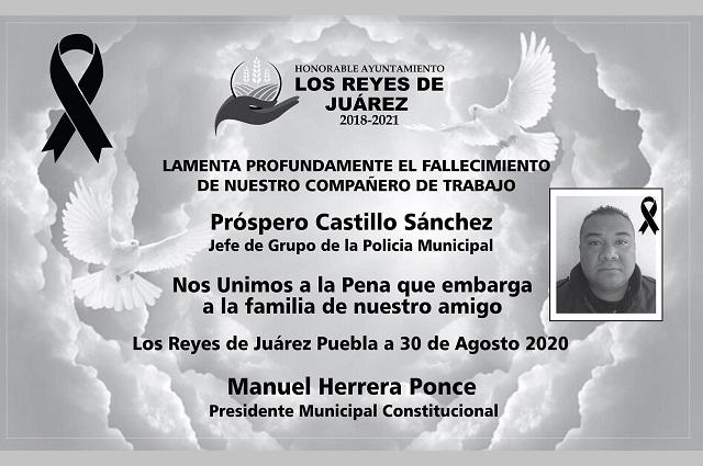Muere en accidente jefe policiaco de Los Reyes de Juárez