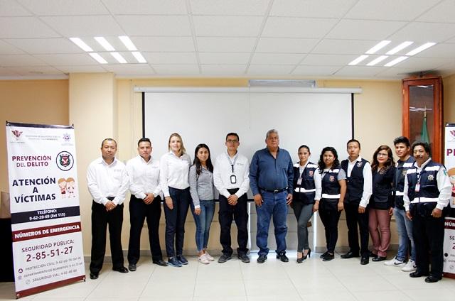 En Cuautlancingo, reunión informativa sobre Botón de Alertamiento