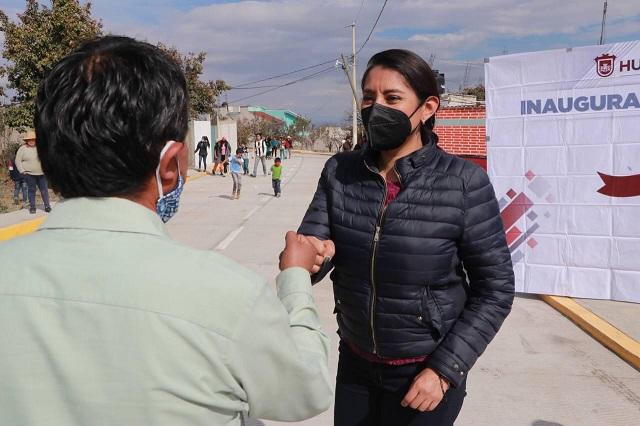 Inaugura Angélica Alvarado nueva vialidad en Huejotzingo