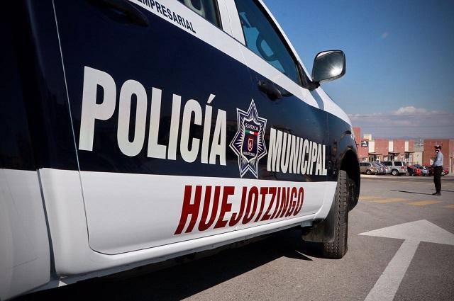 Policías Municipales de Huejotzingo salvaguardan a persona extraviada