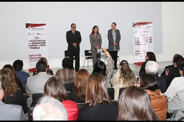 Organiza SEP foros para homologar ley del proceso de RVOES en Puebla