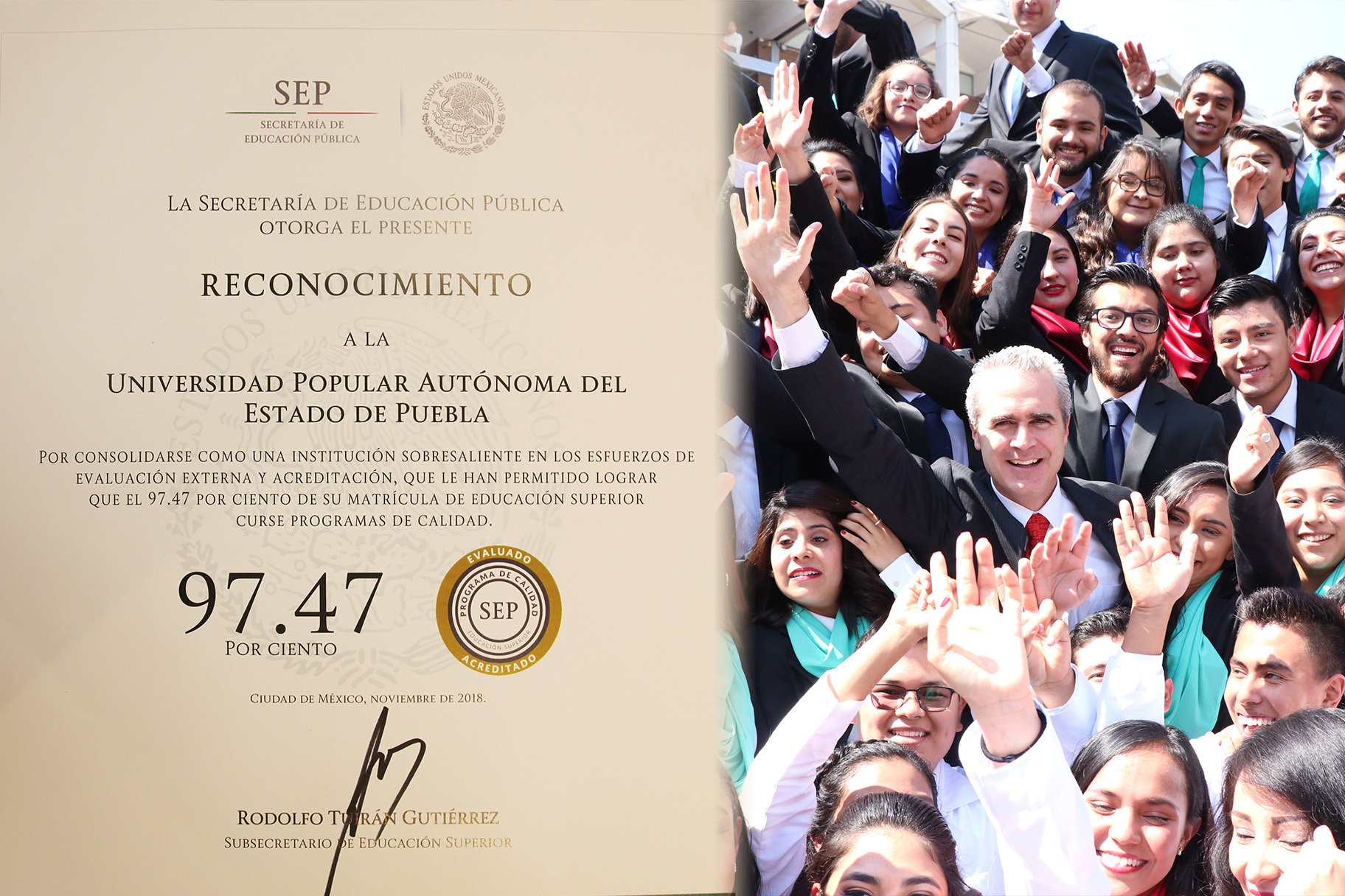 SEP federal reconoce a UPAEP por programas de calidad