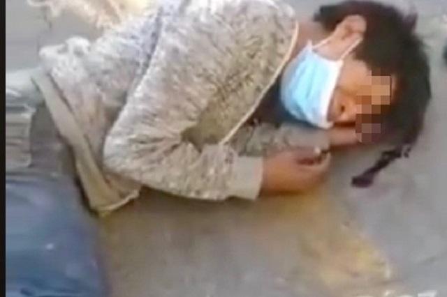 Casi linchan a ladrón afuera de un Walmart en Puebla