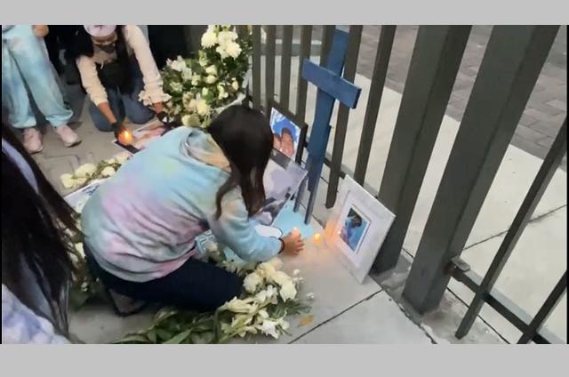 Colocan altar en honor a estudiante asesinado en Volcanes
