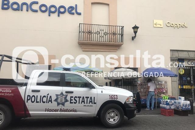 En pleno San Valentín asaltan Coppel en centro de Puebla