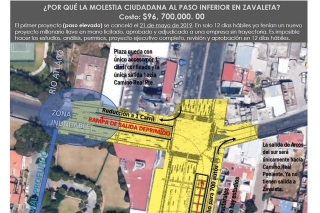 No inicia obra de paso deprimido en Zavaleta; sigue diálogo: SIMT