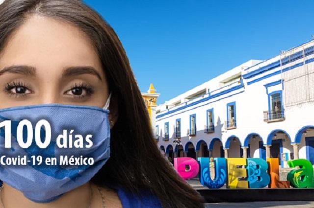 Llega Puebla a 100 días de Covid con aumento de casos y de polémicas