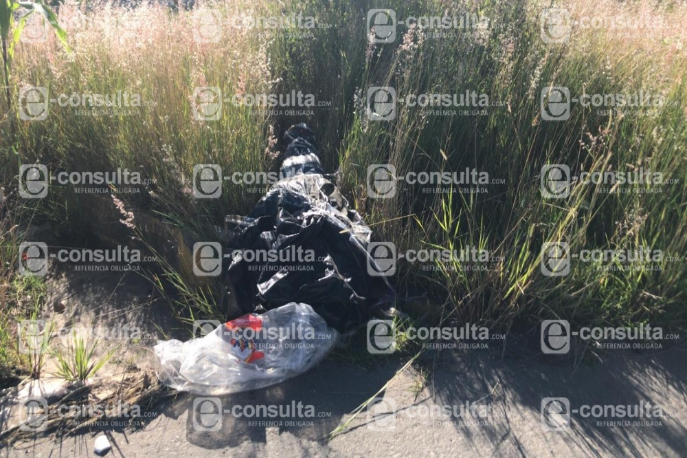 Hallan cadáver embolsado en La Guadalupana junto a Periférico