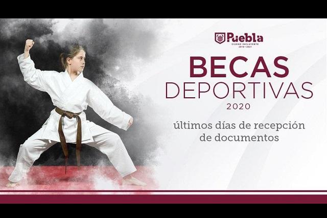 Última semana para pedir Becas Deportivas en Puebla capital