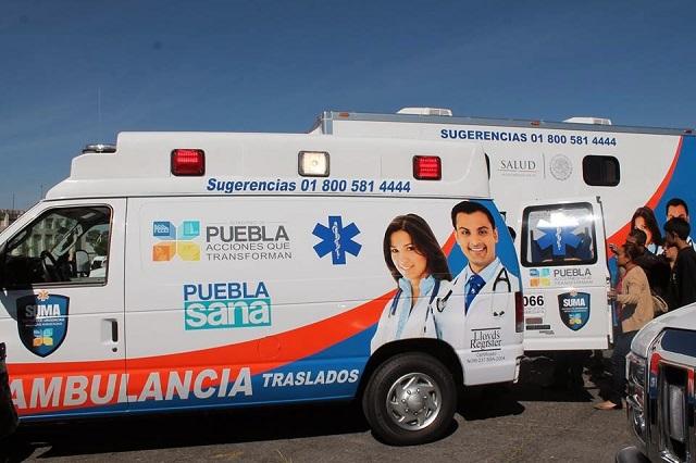 Nuevas ambulancias costarían al gobierno estatal hasta 106.4 mdp