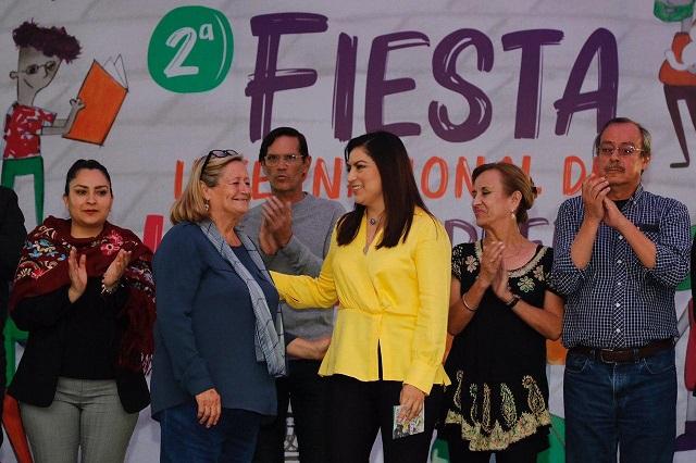 Inauguran Fiesta Internacional del Libro 2020 en el zócalo de Puebla