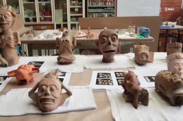 Representan a deidades, piezas halladas  hace 3 años: INAH