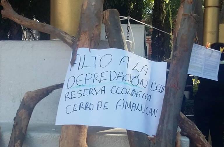 Exhiben daños provocados por  obras del Parque de Amalucan