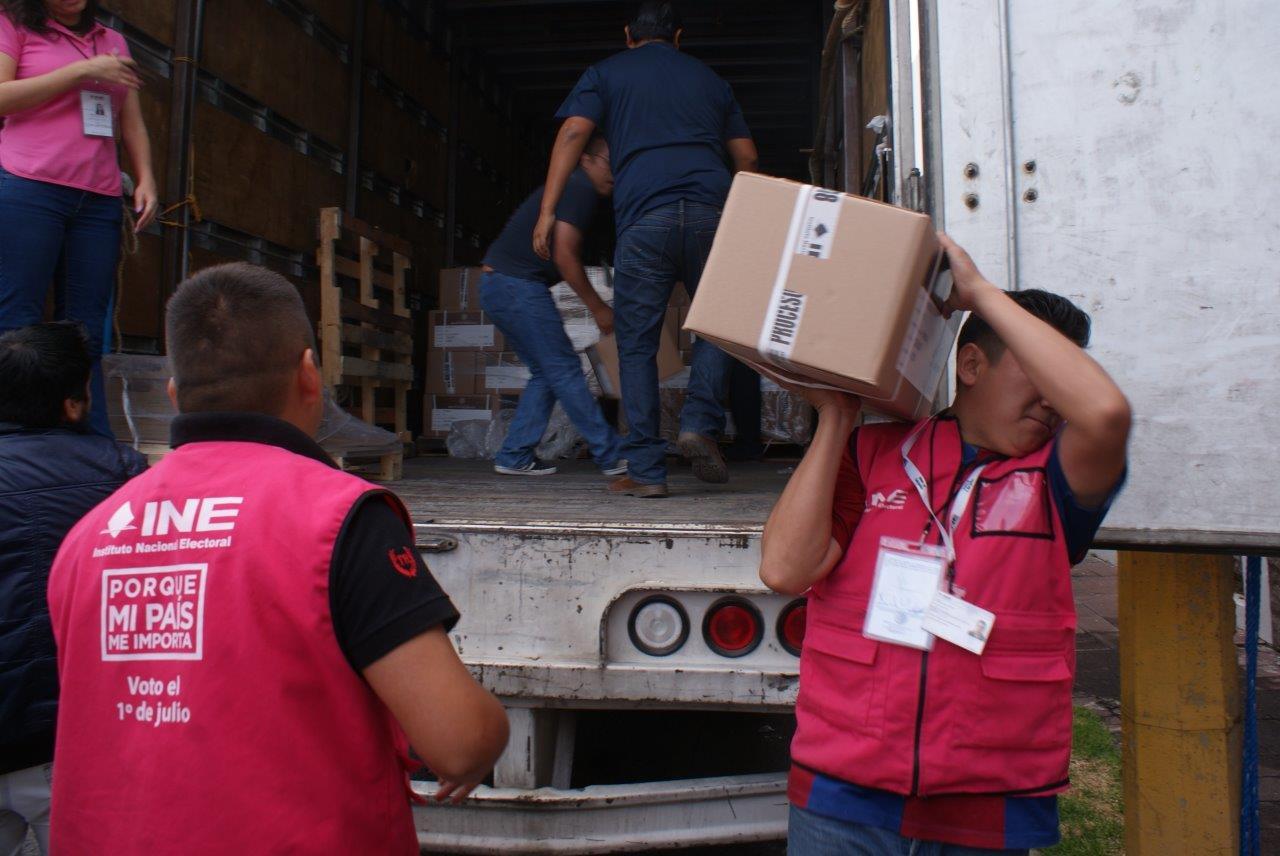 Llegan a Puebla las boletas para   la elección federal, informa INE