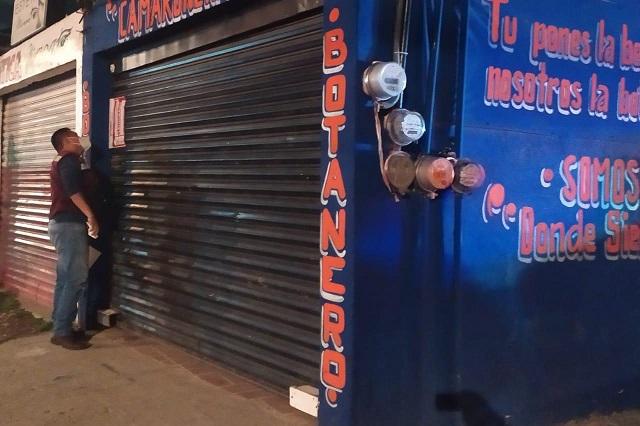 Clausuran 68 antros en Puebla por vender alcohol durante contingencia