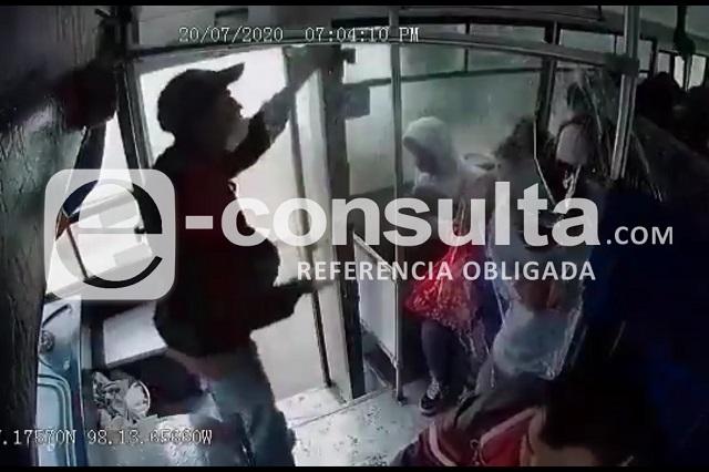 Captan en video asalto en Ruta S19, en Almecatla