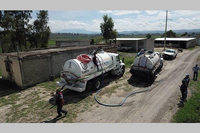 Gobierno de Puebla capital lleva agua a 66 localidades