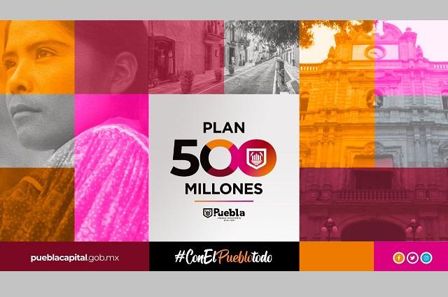 Presenta Claudia Rivera plan de 500 mdp para regeneración económica