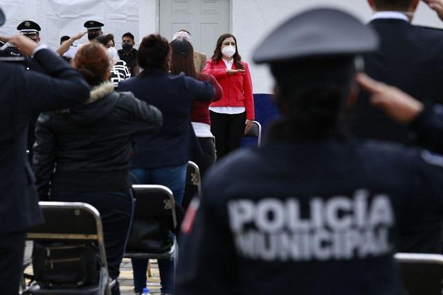 Reconocen autoridades labor de policías de Puebla capital