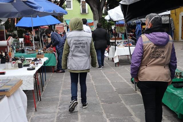 Ayuntamiento de Puebla reactivó mercados temporales en 30%