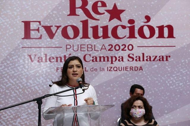 Inaugura Claudia Rivera Festival Popular de Izquierda