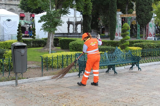 No se suspende servicio de limpia en Puebla capital