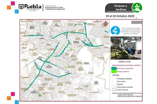 Ayuntamiento de Puebla presenta plan para áreas verdes