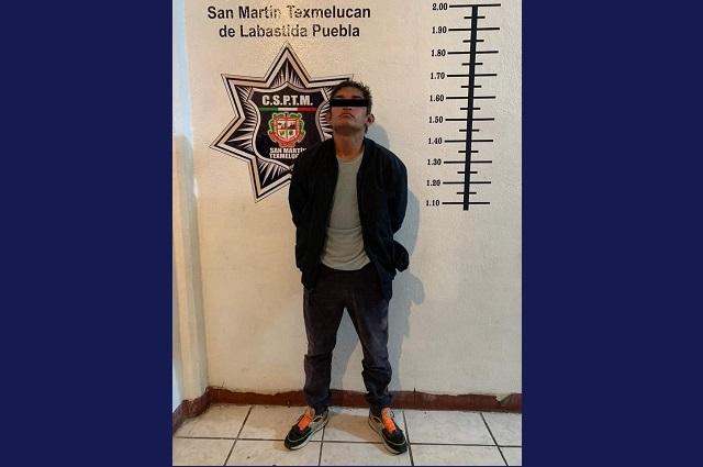 Detienen a hombre involucrado en balacera en Texmelucan