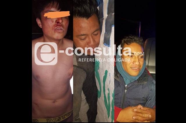 Capturan a tres ladrones en colonias de Puebla