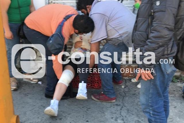 Choque de Ruta 2A deja 10 heridos en centro de Puebla