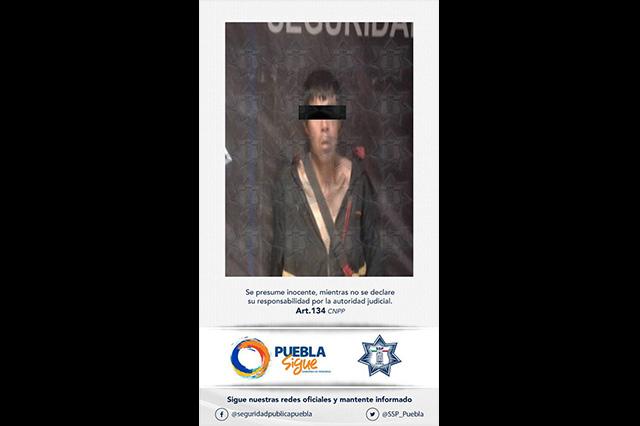 Policía Estatal aseguró a dos presuntos rateros en la 10 de mayo