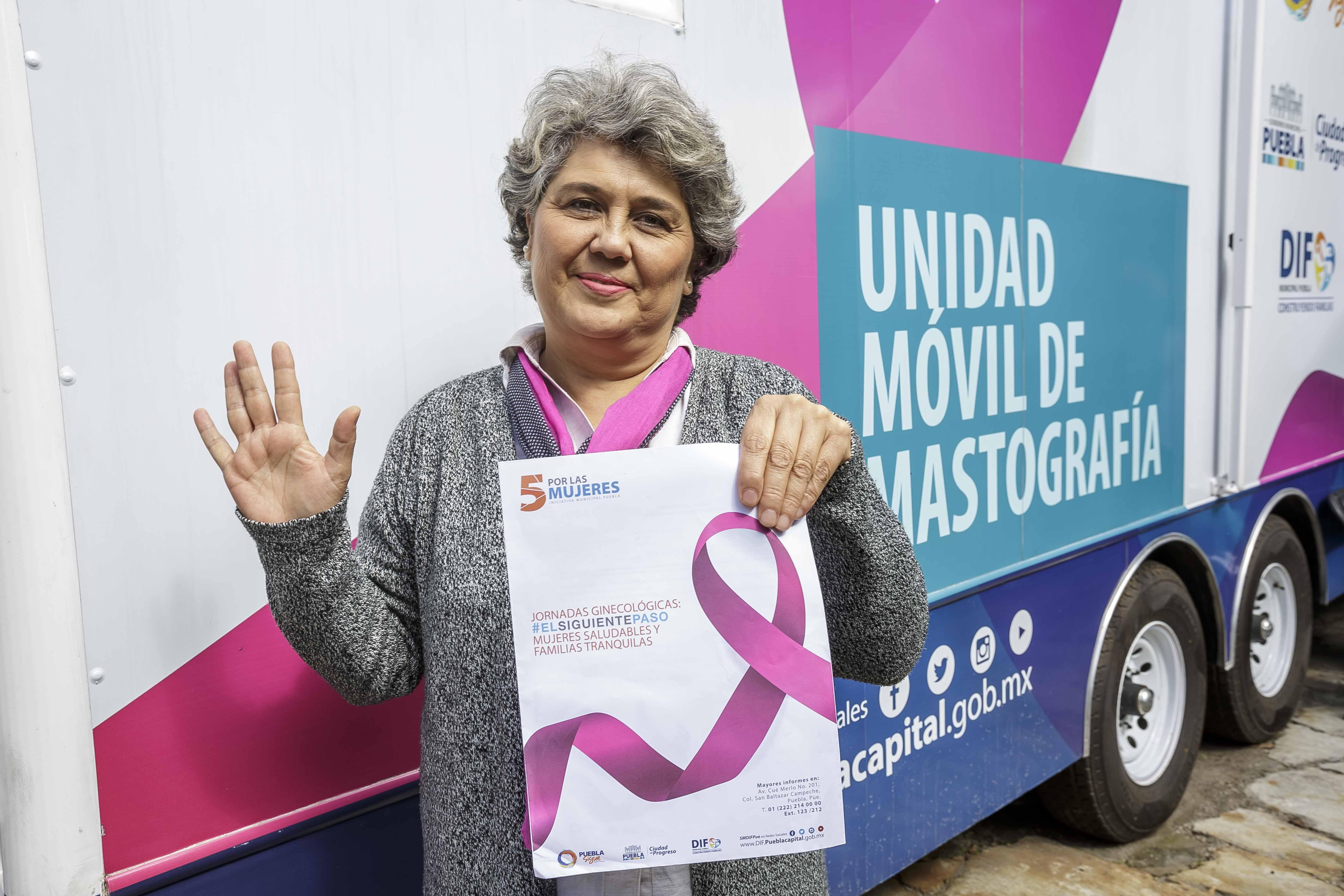 Ofrece SMDIF estudios gratuitos de mastografía a mujeres de Puebla