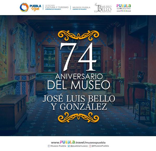 Conmemoran los 74 años del museo poblano José Luis Bello y González