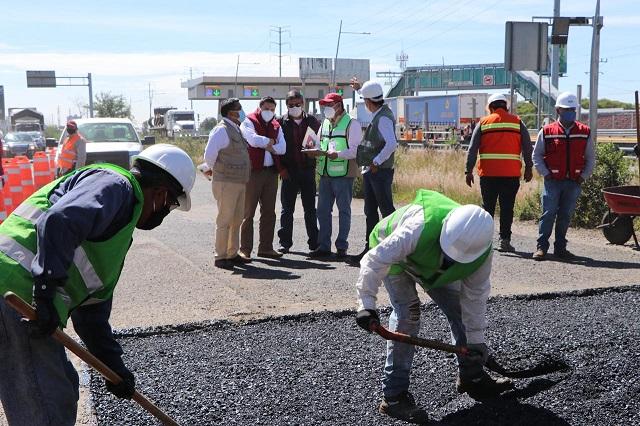 Supervisan obras de rehabilitación en la México-Puebla y Periférico