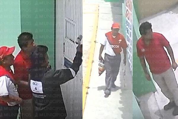 VIDEO: Familia de Tlaxcala y empleado roban gasolinería en Acajete
